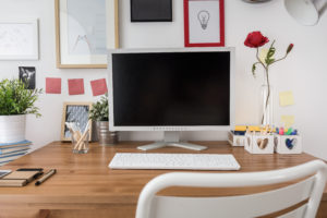 Organized Home Office Desktop