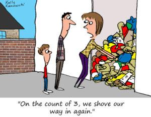 Garage Organizing Cartoon
