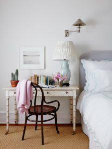Desk as bedside table
