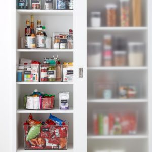 Organized Pantry and Bins