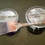 Organize your household paints for easy touch-ups